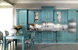 Особенности оформления кухни в голубых тонах