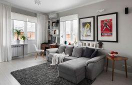 Правила оформления гостиной в серых тонах