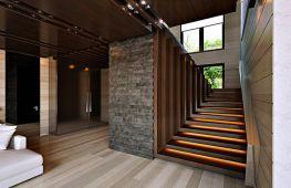 Виды подсветки на лестнице в частном доме