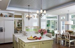 Особенности пластиковых потолков на кухне