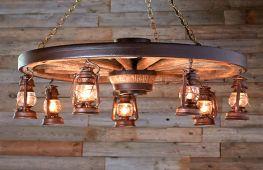 Оригинальные деревянные светильники и люстры: особенности изготовления