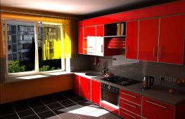 Красная кухня: создаем оригинальный и практичный интерьер