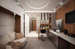 Секреты дизайна студии 25 кв. м. Как сделать компактную жилплощадь комфортной
