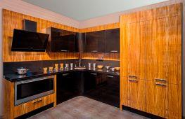 Гарнитуры из шпона и экошпона в интерьере современной кухни