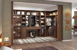 Идеи обустройства гардеробной комнаты в нише
