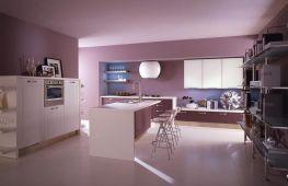 Подойдет ли розовый цвет для интерьера кухни