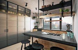 Интерьер кухни, выполненный в стиле лофт: идеи и способы реализации