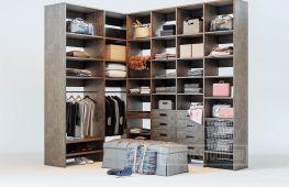 Варианты оформления г-образной гардеробной: фото и примеры
