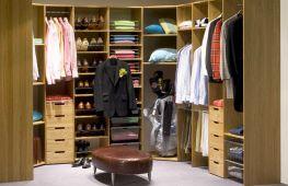 Преимущества П-образной гардеробной