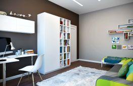 Окраска стен в два цвета — оригинальный  способ отделки современного интерьера