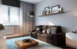 Дизайн скромной гостиной. Как оригинально оформить зал в «хрущёвке», не ломая стены