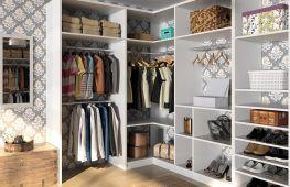 Конструкции систем хранения одежды, обуви и других вещей в гардеробной