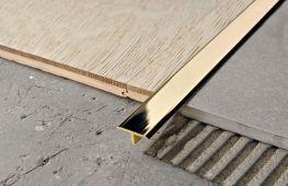 Особенности дизайна стыка плитки и ламината