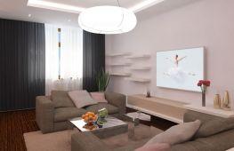 Стиль минимализм в рамках гостиной