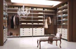Варианты интересного освещения гардеробной