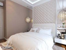 Классические светлые тона в оформлении спальни