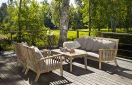Варианты мебели для дачи и правила ухода за ней
