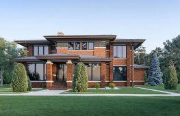 Особенности домов, спроектированных в стиле Райт