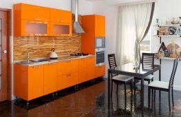 Варианты оформления оранжевой кухни