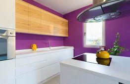 Дизайн интерьера фиолетовой кухни. Способы и варианты оформления