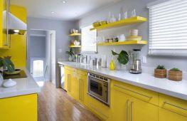 Солнечная, золотая или лимонная: разнообразие оттенков для желтой кухни и правила их сочетания
