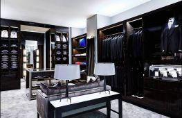 Обустройство мужской гардеробной: советы и фото интерьеров