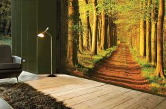 Фотообои, способные расширить пространство, – эффектное средство для декорирования маленьких комнат