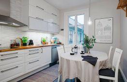 Принципы оформления кухни в скандинавском стиле