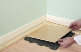 Подготовка к укладке плитки на деревянную поверхность