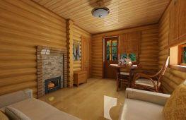 Интересные проекты дизайна бани с комнатой отдыха