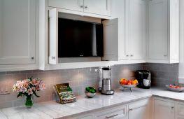 Телевизор на кухне: критерии выбора модели, способы установки