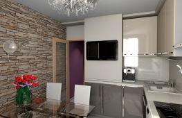 Дизайн помещения кухни с коробом – превращение недостатка в достоинство