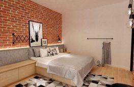 Оригинально и современно: особенности отделки спальни в стиле лофт