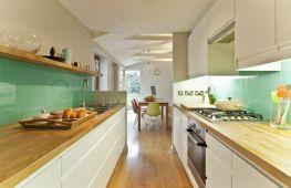 Узкая кухня: варианты дизайна