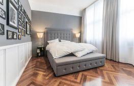 Особенности дизайна спальни, оформленной в серых тонах