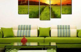 Подбор картин в интерьер гостиной