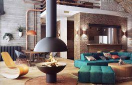 Интересные идеи по оформлению гостиной в стиле лофт