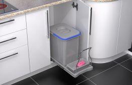 Мусорный контейнер: выбор практичного ведра, удобное оснащение для современной кухни