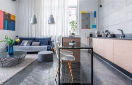 Объединенная гостиная кухня: принципы дизайна интерьера