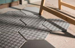 Способы укладки шестигранной напольной плитки. Советы дизайнеров