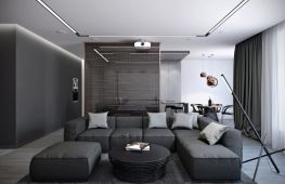 Нюансы оформления гостиной в стиле хай тек