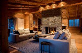 Как оформить уютную гостиную в стиле шале