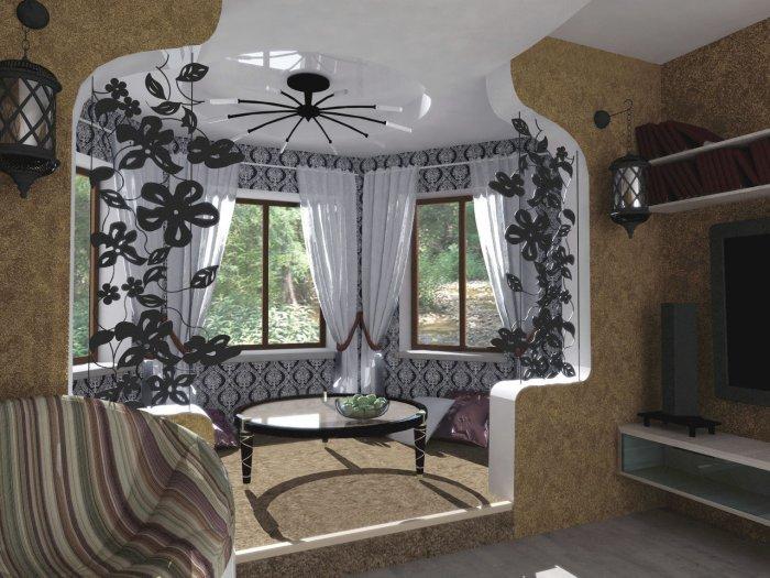 Дом с эркером отличается уютом и неповторимой уникальностью.