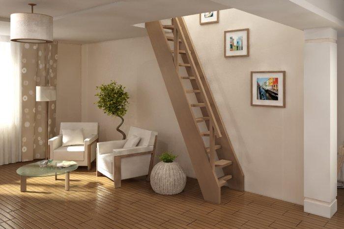Подобную лестницу без особых усилий может сделать самостоятельно даже новичок