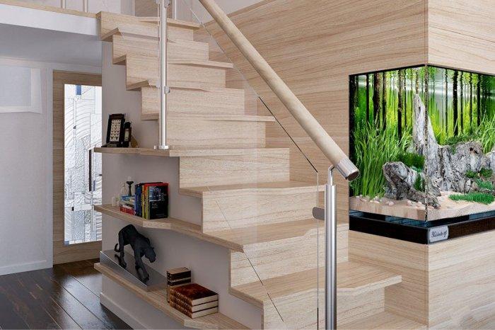 Установка перил и балясин на лестнице «Гусиный шаг» является необходимой мерой предосторожности