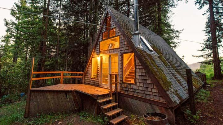 дом в виде шалаша