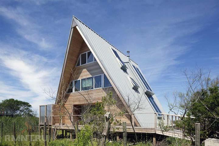 дом шалаш двухэтажный