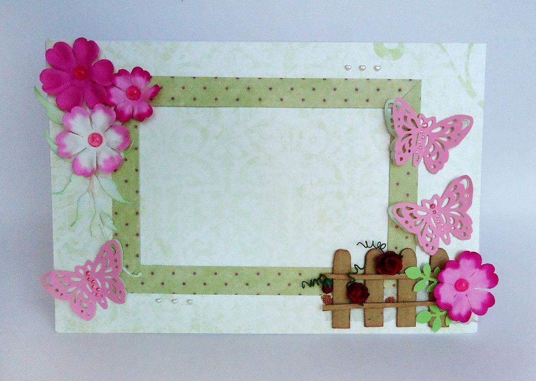 Как сделать рамку для фото из открытки, месяцами