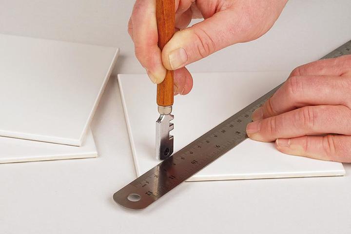 как разрезать кафель