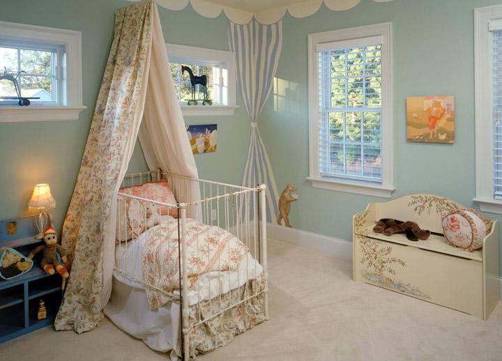 балдахин для кроватки в детской